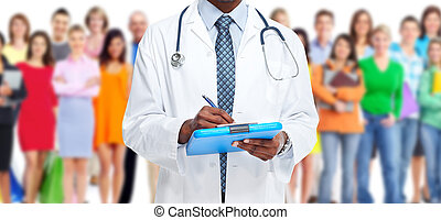 Medical doctor - Medical doctor and people group Health care...