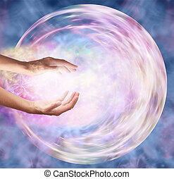 Sending Distant Healing to Embryo - Female hands appearing...