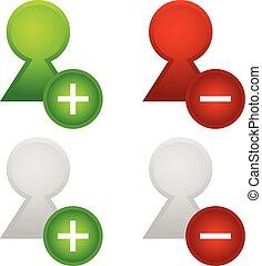 User icons. Add, remove user User icons. Add, remove user -...