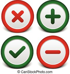 Cross, Checkmark, Plus, Minus Signs