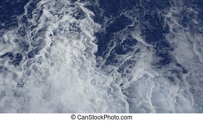 Water foam flowing. Abstract