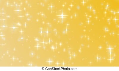 Christmas gold background and stars