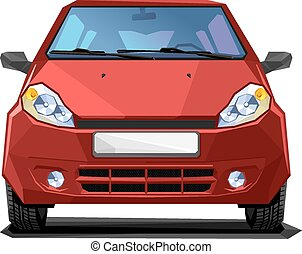 red car - A Vector illustration of red car. front view....