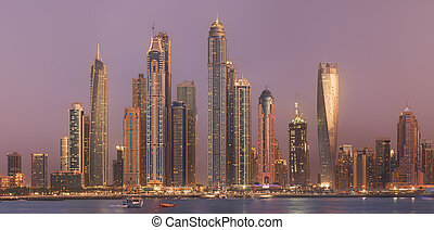The beauty panorama of Dubai marina. UAE - The beauty...