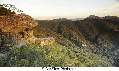 The Balconies, Grampians National Park - Scenic sunset view...