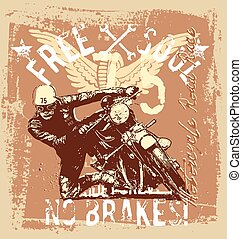 vintage motorcycle road race - vintage motorcycle vector...