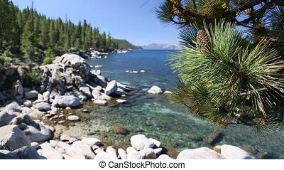Beautiful Shoreline of Lake Tahoe - Beautiful Clear Water...