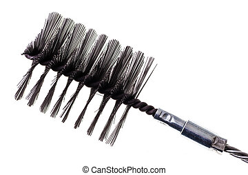 chimney metal brush - a chimney metal brush isolated over a...
