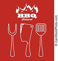 bbq icon design, vector illustration eps10 graphic