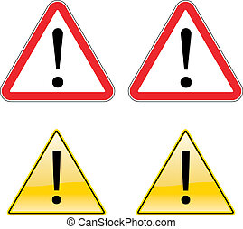 Warning Exclamation Label Sign Symbol