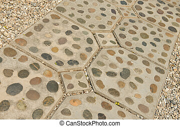 rock foot path decoration background and texture