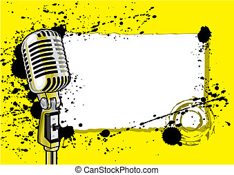 Music Event Design (vector) - Music Event Design With Space...