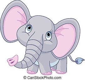 Baby Elephant - Illustration of a little baby elephant