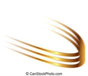 Dynamic golden abstract motion
