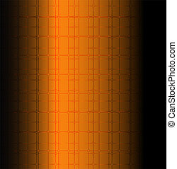 Orange technology grid background