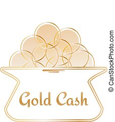 Purse with gold coinsicon or logotype for your business...