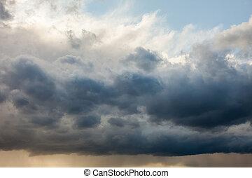 Stormy sky background
