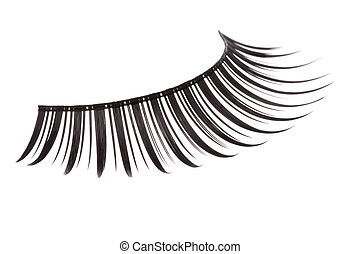 Artificial Eyelashes Isolated - Isolated macro image of...