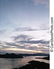 Bay view at dusk