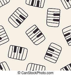 piano doodle drawing