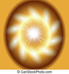 Abstract gold background lighting swirl flare