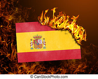 Flag burning - Spain - Flag burning - concept of war or...