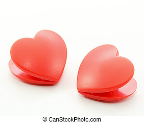Twin Heart - Twin heart on white background