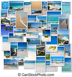 Tropical trip collection - Collage of pictures evoking a...