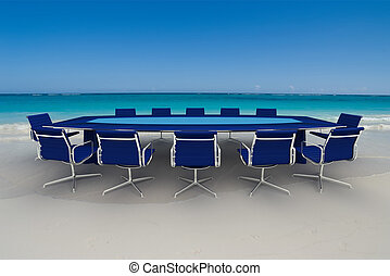 Incredible business meeting - 3D rendering of a Meeting...