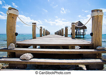 The pier - Wooden pier on a tropical beach