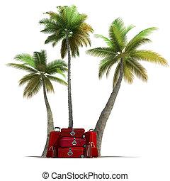 Tropical trip and elegant red lugga - Island like...