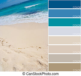Beach color code - Beach background with color swatch