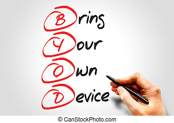 Bring Your Own Device (BYOD), business concept acronym