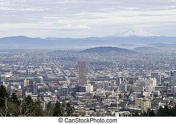 Portland, Oregon Cityscape - View of Portland, Oregon from...