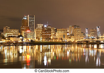 View of Portland, Oregon Cityscape