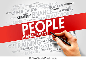 People Management word cloud, business concept