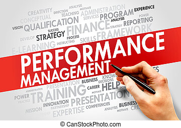 Performance Management word cloud, business concept