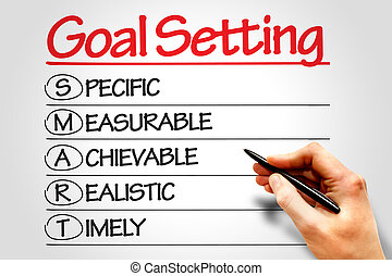 Goal Setting - SMART Goal Setting business concept