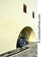 Fort Rotterdam, Makassar Indonesia, a historic building...