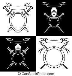 Contours of emblems