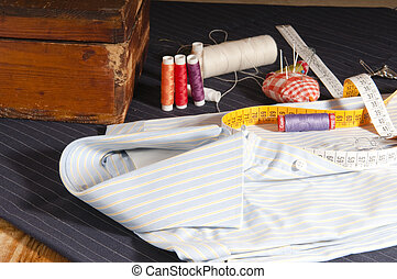 tailored shirt - view of a shirt custom made by a tailor in...