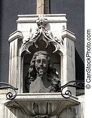 Charles I statue - Charles I sculptured head looks directly...