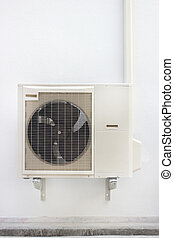 air compressor - Air compressor on white wall