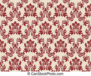 seamless damask pattern - Damask seamless background