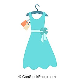 Summer dress hanger price tag