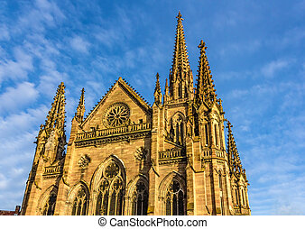 Temple Saint-Etienne of Mulhouse. Alsace, France