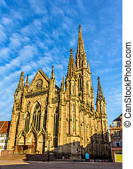 Temple Saint-Etienne of Mulhouse Alsace, France