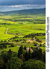Toscana - landscape view of Tuscany, Italy