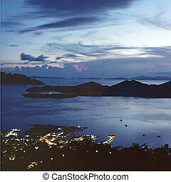 Bay view at dusk, in Coron island.