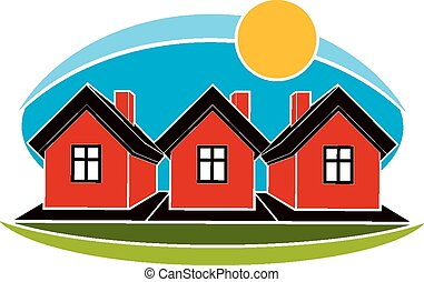 Bright illustration of simple house
